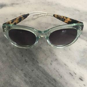 Anthropologie ett:twa Sea Green Sunglasses-ON SALE